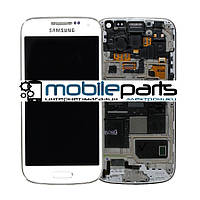 Дисплей (Модуль)+Сенсор (Тачскрин) для Samsung i9500   Galaxy S4 (Белый) (С рамкой) (Тайвань TFT дисплей)