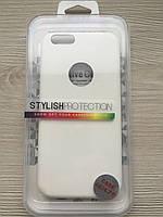 Белый чехол для iphone 6/6S Матовый силиконовый