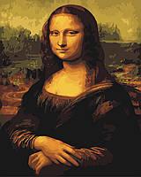 Живопись по номерам без коробки Мона Лиза худ Да Винчи Леонардо (BK-G241) 40 х 50 см (Без коробки)