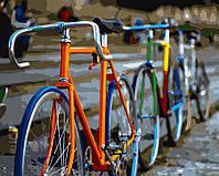 Раскраска по цифрам Разноцветные велосипеды (BRM7103) 40 х 50 см
