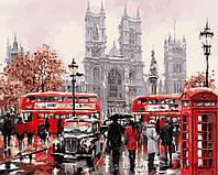 Раскраска по цифрам Дождливый Лондон Худ МакНейл Ричард (BRM8088) 40 х 50 см
