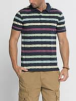 Мужское поло LC Waikiki синего цвета в полоски разноцветные