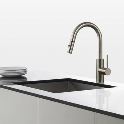 Кухонный смеситель Kraus KPF-2620SS, фото 2