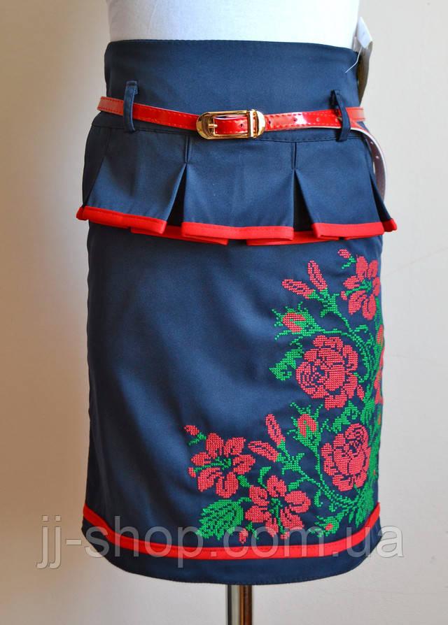 Детская юбка синего цвета для девочки