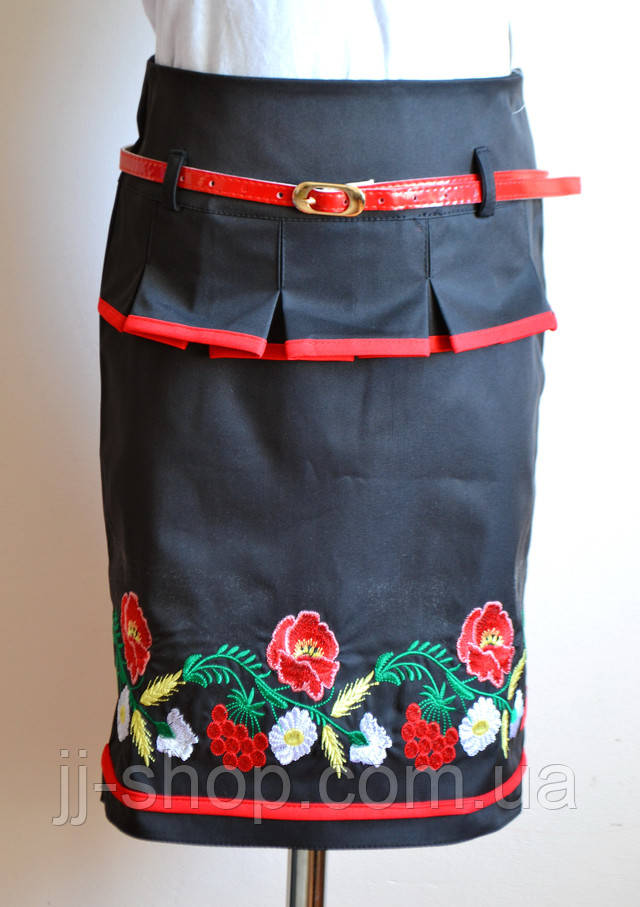Детская юбка для девочки, черного цвета