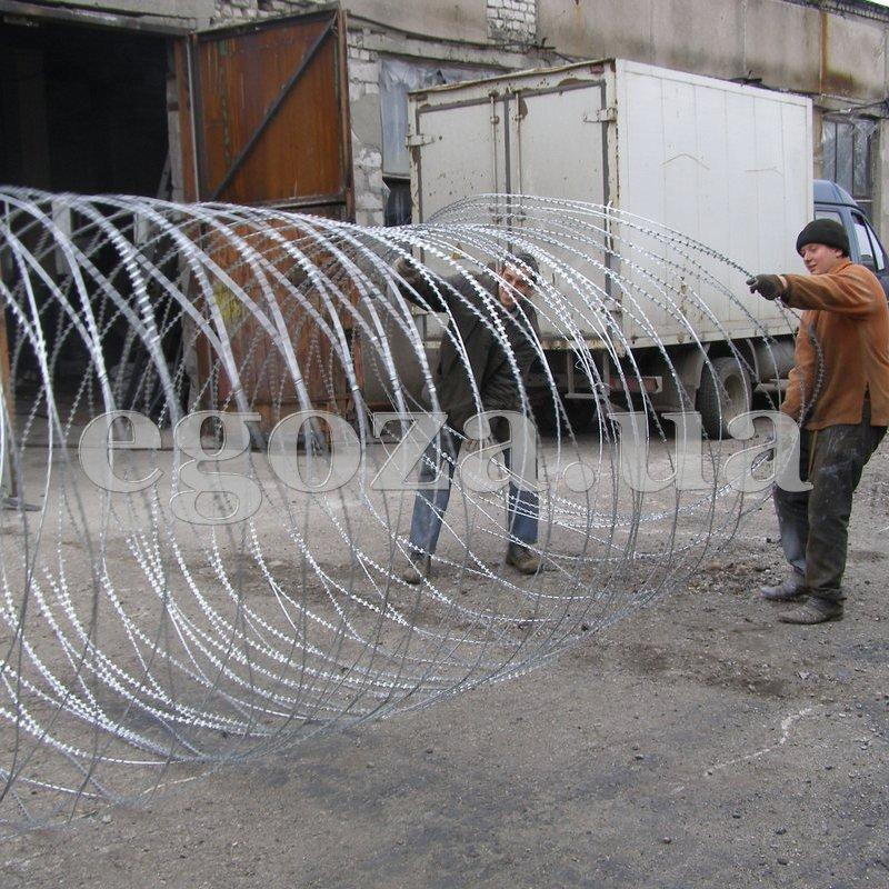 Спираль Егоза Кайман 1100/7 ограждение из колючей проволоки
