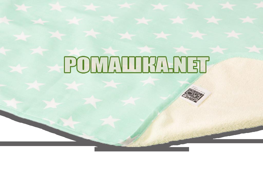 Детская непромокаемая пеленка 50х70 см двухсторонняя дышащая многоразовая Eсo Cotton ЭКО ПУПС 3658 Звёзды - Детский интернет-магазин «Ромашка» в Киеве