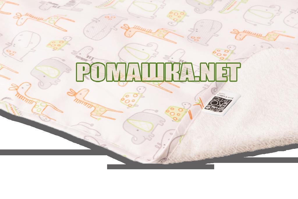 Детская непромокаемая пеленка 65х90 см двухсторонняя дышащая многоразовая Eсo Cotton ЭКО ПУПС 3658 Зоопарк - Детский интернет-магазин «Ромашка» в Киеве