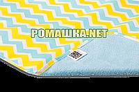 Детская непромокаемая пеленка 65х90 см двухсторонняя дышащая многоразовая Eсo Cotton ЭКО ПУПС 3658 Зигзаги