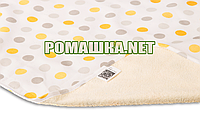 Детская непромокаемая пеленка 65х90 см двухсторонняя дышащая многоразовая Eсo Cotton ЭКО ПУПС 3658 Горошек