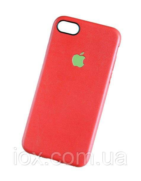 """Червоний м'який TPU чохол-накладка з яблучком для iPhone 7 і iPhone 8 (4.7"""")"""
