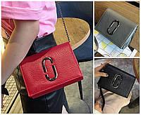 Женская сумка клатч через плечо брендовая Whorse красная подкладка