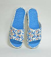 Шлепанцы женские в голубые Крок