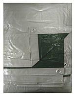 Тент на лодку, катер 6х8 м (серебряно-зеленый 120 г/кв.м.) (Tent)