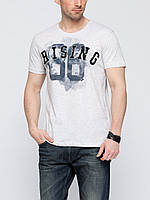 Мужская футболка LC Waikiki белого цвета с надписью Rising 86