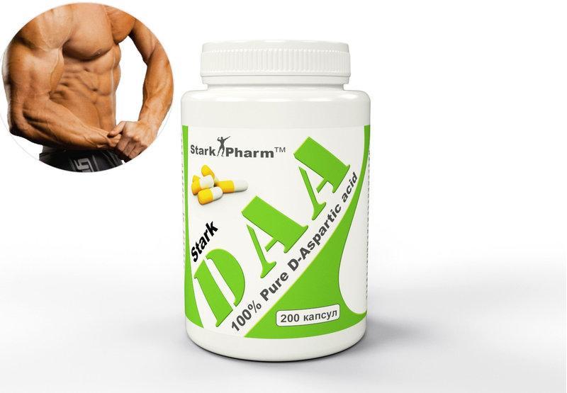 D-аспарагінова кислота DAA бустер тестостерона 500 мг 200 капс