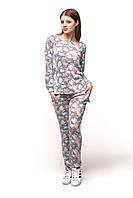 Женский спортивный костюм С-6 Цветы