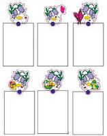 Магнитный стенд для крепления рисунка магнитом Колокольчики