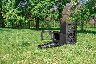 """Дровяная банная печь каменка """"Жанна"""" (с выносом, со стеклом, с парогенератором), 4мм , фото 3"""