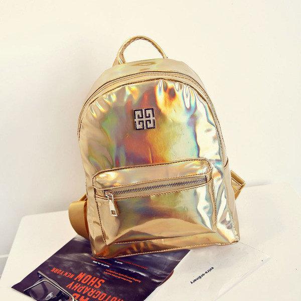 Стильный женский золотой рюкзак-голограмма Givenchy (Живанши) ( код: IBR084Y )