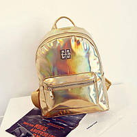 Стильный женский золотой рюкзак-голограмма Givenchy (Живанши) ( код: IBR084Y ), фото 1