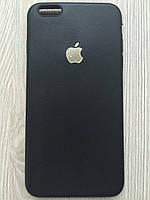 Матовый силиконовый чехол для iphone 6+/6S+ черного цвета