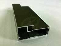 Алюминиевый рамочный профиль, цвет св. бронза