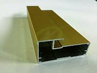Алюминиевый рамочный профиль, цвет золото