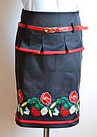 Детская юбка для девочки, с вышивкой, фото 1