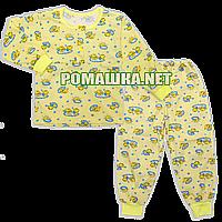 УЦЕНКА -30% Детская пижама тонкая р. 104-110 ткань КУЛИР 100% тонкий хлопок ТМ Авекс 3185 Желтый А 110