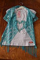 Нарядная  летняя футболка  для девочек 5, 6, 7, 8 лет.Турция!100 % хлопок!Детская летняя одежда!