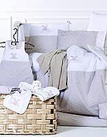 Детский набор - постельное с защитой в кроватку Karaca Home - Sweety Bunny (13 предметов)