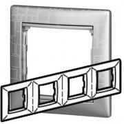 Рамка 4-местная универсальная (горизонтальная / вертикальная), алюминий модерн, Legrand Valena Легранд Валена