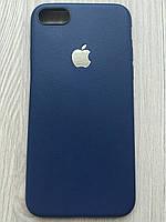 Матовый силиконовый чехол для iphone 7/8 синего цвета