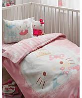Детский набор - постельное с защитой в кроватку Karaca Home Hello Kitty