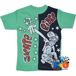 """Летняя футболка с принтом """"Skate Rider"""" , трикотаж , для мальчика с ростом 80-98 см (4 ед. в уп.)"""