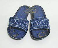 Сланцы женские джинсовые с камнями Украина, фото 1