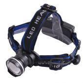 Ультрафиолетовый фонарь на лоб 12V XQ24-UV 365 nm, ultra strong, 2 акк. 18650