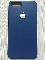 Силиконовый матовый чехол для iphone 7+/8+ синего цвета