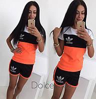 Женский спортивный костюм Адидас с шортами (разные цвета)