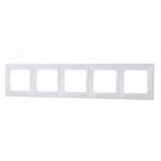 Рамка 5-местная универсальная (горизонтальная/вертикальная), белый, Legrand Valena Легранд Валена