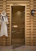 Двери для саун, двери стеклянные для саун Бронза, шиншила, матовые, фото 1