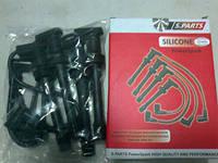Провода высоковольтные ВАЗ 2110, 2111, 2112, Калина, Приора инжектор 16 кл. полусиликон (Ortex)