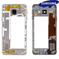 Средняя часть корпуса для Samsung Galaxy A3 (2016) A310, черная, оригинал