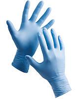 Нитриловые перчатки М синие