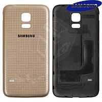 Задняя крышка батареи для Samsung Galaxy S5 mini G800H, золотистая, оригинал