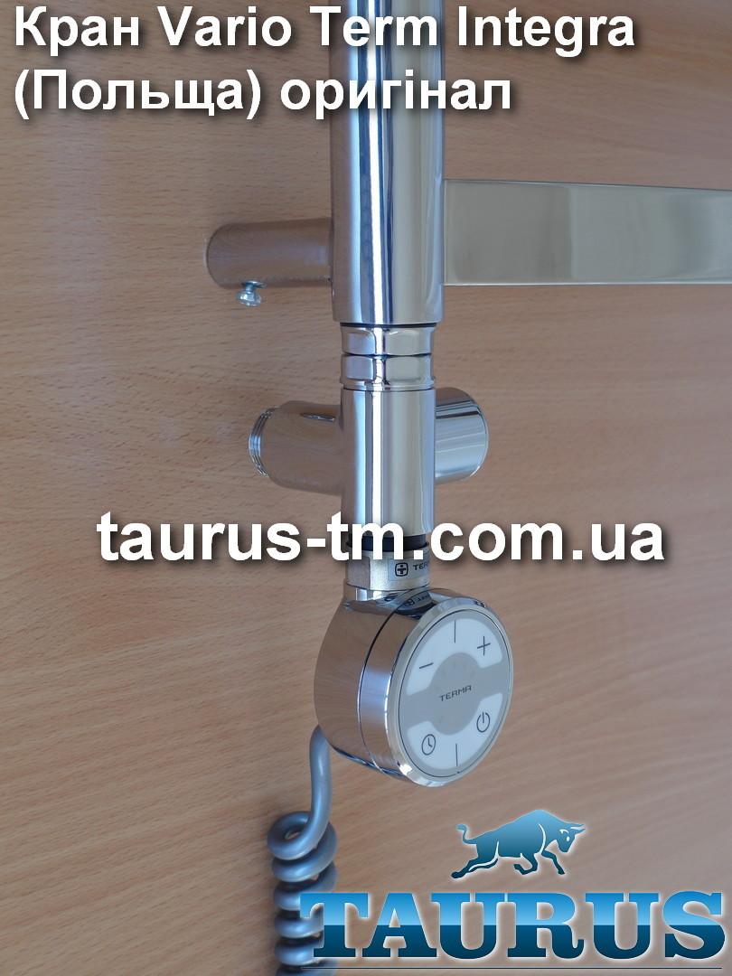 Прохідний кутовий кран під ТЕН VarioTerm Integra chrome 1/2 Польща; для водяних, гібридних рушникосушок