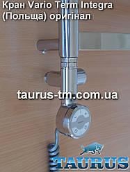 Проходные угловые краны под ТЭН VarioTerm Integra chrome 1/2 Польша; для водяных, гибридных полотенцесушителей