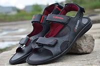 Мужские кожаные сандалии Columbіa 12116 черные