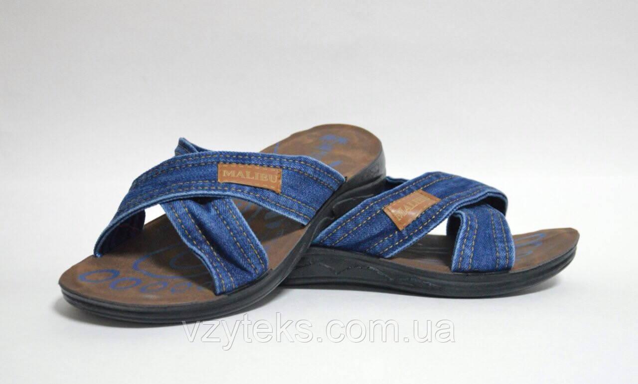 a399cc68b11c Мужские шлепанцы пляжные джинсовые Украина - Центр обуви Взутекс в  Хмельницком